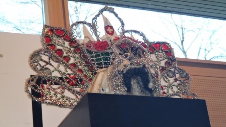Die Ausstellung zu den Silvesterhauben ist in der Turnhalle Au in Urnäsch