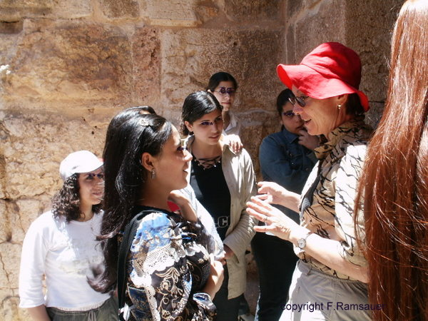 At the Kerak Castle I met some young and very interested students!