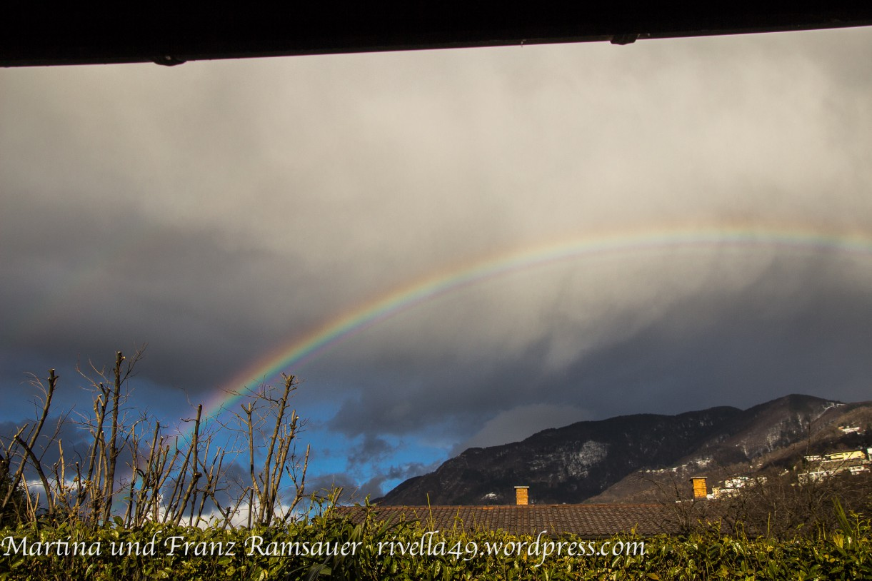 Arcobaleno marzo 2015 in Ticino.
