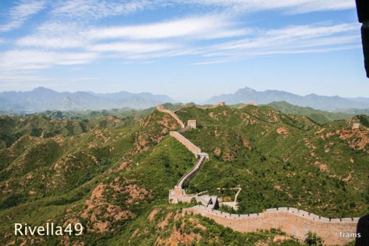 Franz und ich auf der Chinesischen Mauer/