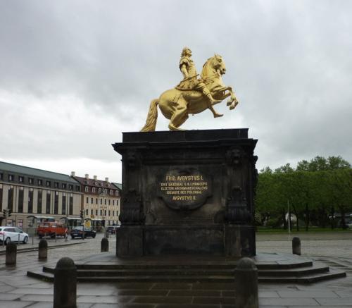 August der Starke zu Pferd/Foto F.Ramsauer