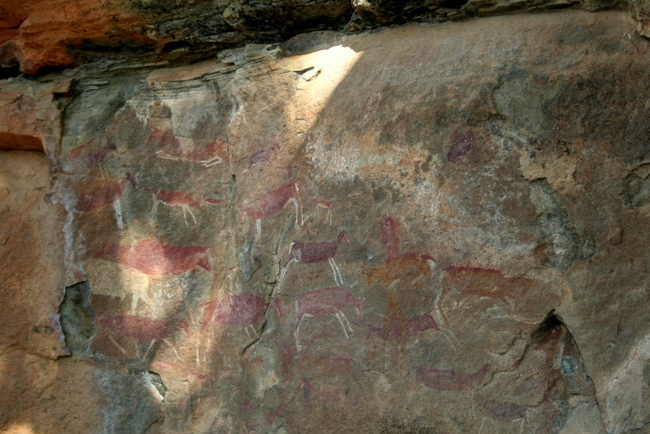 Rockpainting ins the Drakensbergen/F.Ramsauer