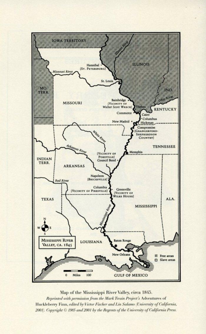 Mississipi Valley, circa 1845