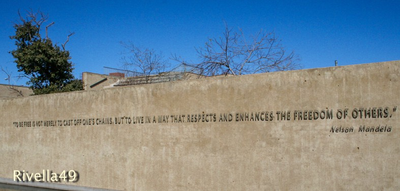 At the Mandela museum in Johannesburg about FREEDOM