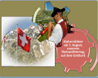 Der Alphornbläser auf dem Gotthard Pass