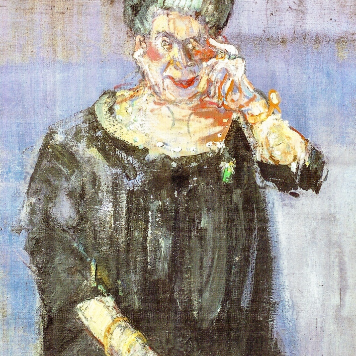 Varlin or Willy Guggenheim was born in Zurich in 1900. He died in Bondo/GR. He was a Swiss Jewish painter. This painting shows Hulda Zumsteg.