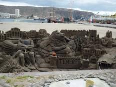 Sandgebilde/costruzione di sabbia/sand construction