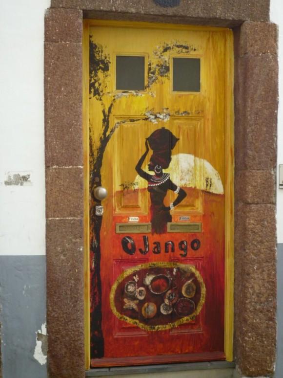 Bemalte Tür in Funchal/Madeira/Painted door in Funchal/Madeira/Porta pitturata a Funchale/Madeira