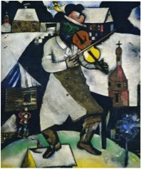 Der Geiger/Marc Chagall POST ZU/ABOUT/WITEBSK:https://rivella49.wordpress.com/2011/04/06/weissrusslandbelaruswitebsk/