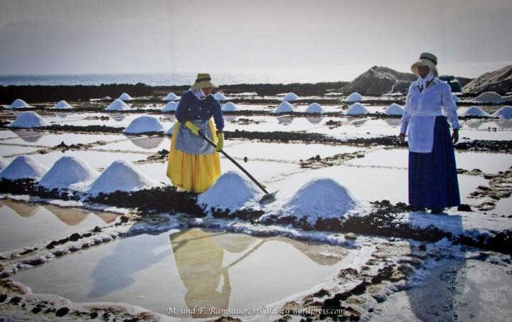 Die Salinas di Janubio liegen westlich von Yaiza und stellen die letzte Salzverarbeitung dar.