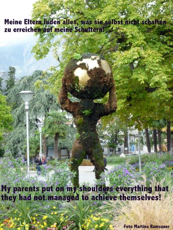 I miei genitori mettevono sulle mie spalle tutto quello che lo stessi non sono riusciti a realizzare!