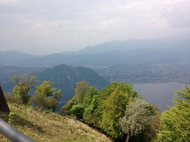 From the view point on Mount Sighignola towards Lugano