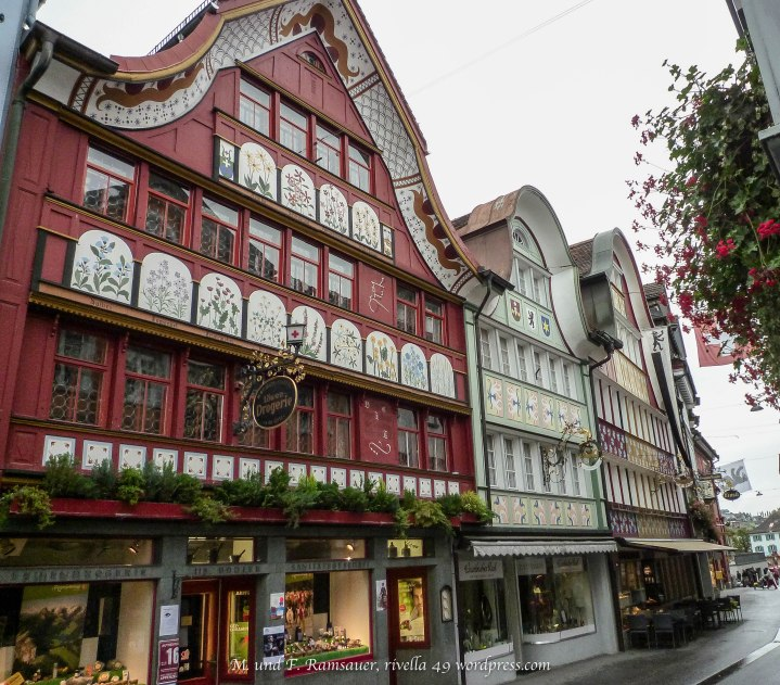 Appenzell/Hauptgasse/main road in Appenzell/strada princpale ad Appenzell